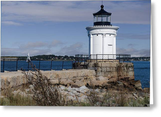 Portland Breakwater Lighthouse, Maine Greeting Card by Capt Gerry Hare