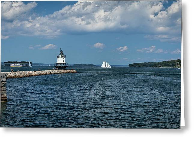 Portland Harbor, Maine Greeting Card