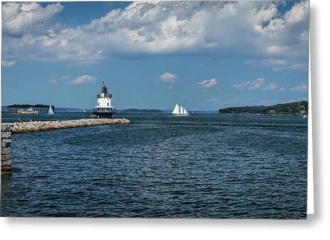 Portland Harbor, Maine Greeting Card