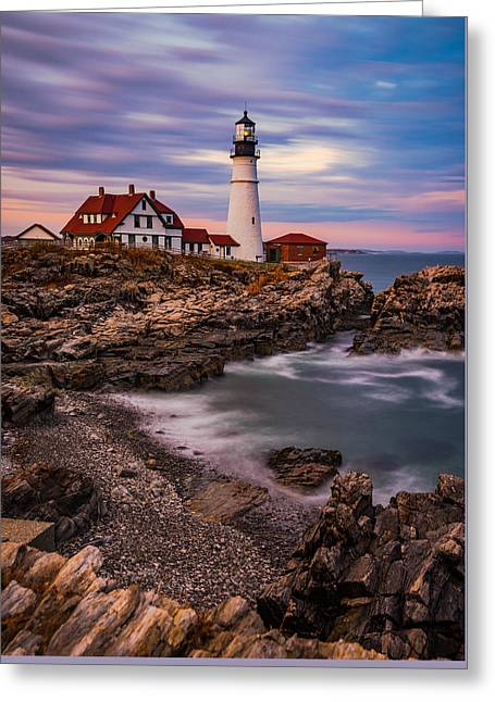 Portland Head Greeting Card by Darren White