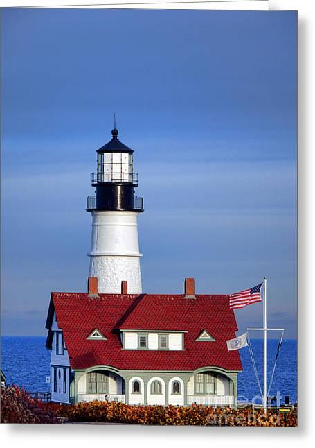Portland Head Light And Keeper House Greeting Card