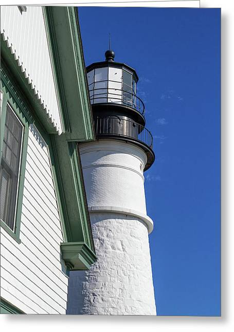Portland Head Light Detail Greeting Card
