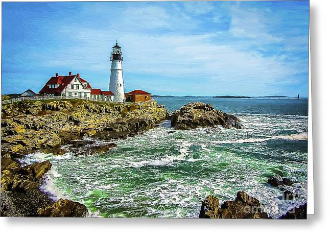 Portland Head Light - Oldest Lighthouse In Maine Greeting Card