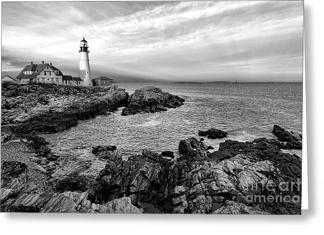Portland Head Light Greeting Card by Olivier Le Queinec