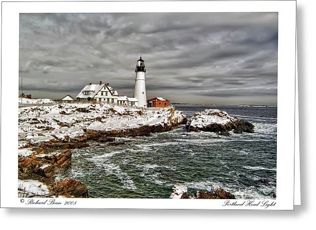 Greeting Card featuring the photograph Portland Head Light by Richard Bean