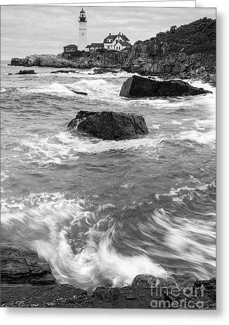 Portland Head Light Under Heavy Skies  -88356 Greeting Card