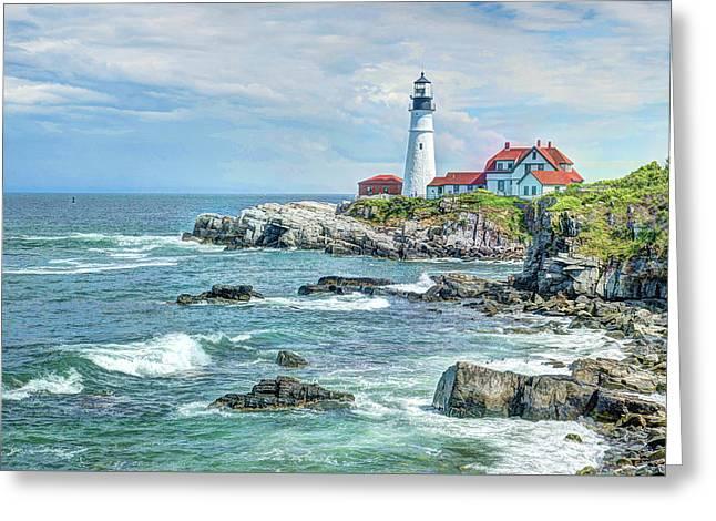 Portland Head Lighthouse #3 Greeting Card by Joe Granita
