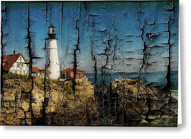 Portland Head Lighthouse 5 Greeting Card by Sherman Perry