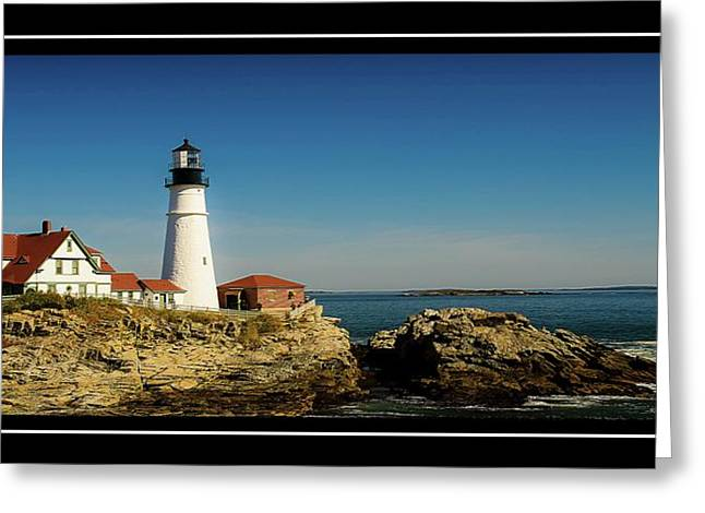 Portland Head Lighthouse 7 Greeting Card by Sherman Perry