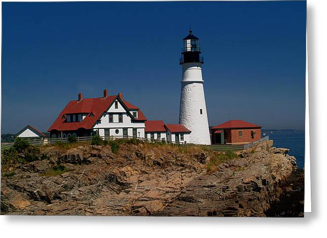 Portland Head Lighthouse Greeting Card by Brad Hoyt