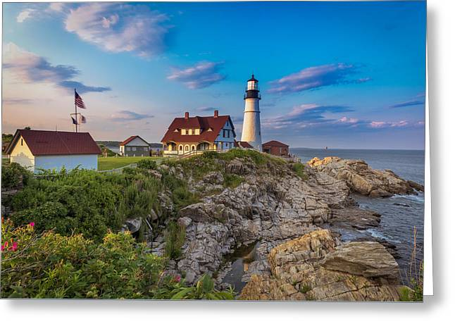 Greeting Card featuring the photograph Portland Head Lighthouse by Cindy Lark Hartman