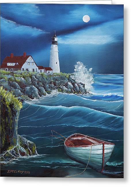 Portland Head Lighthouse Greeting Card by Jerry McElroy