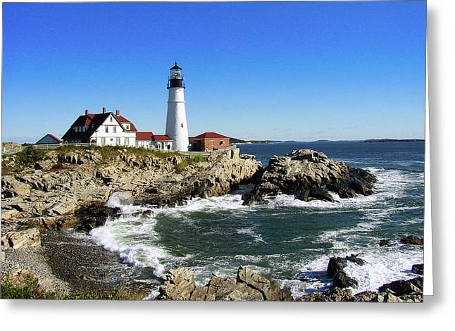 Portland Head Greeting Card by Paul Mashburn