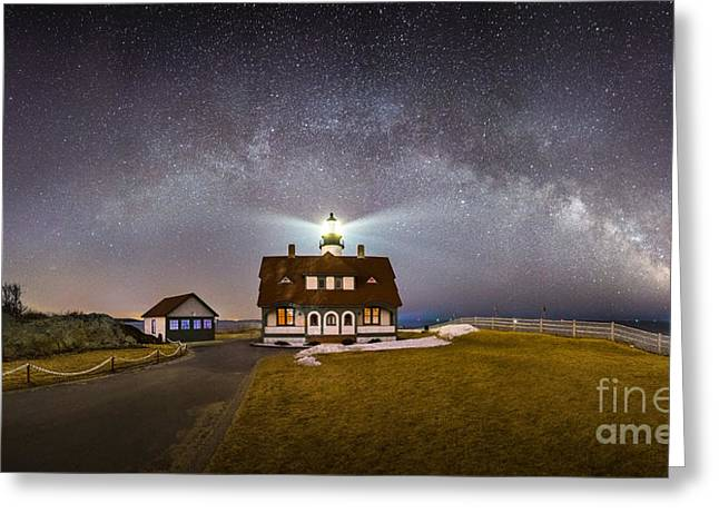 Portland Head Under The Milky Way Greeting Card by Benjamin Williamson