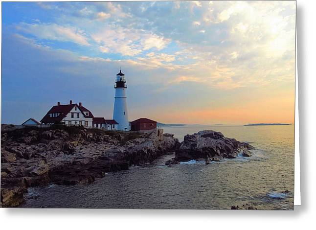 Portland Headlight Greeting Card