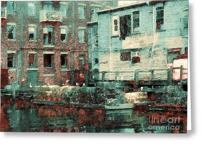 Portland Historic District Greeting Card by Marcia Lee Jones