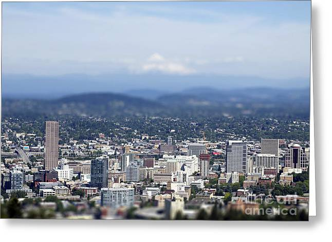 Portland In Perspective Greeting Card