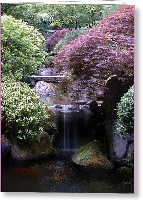 Portland Japanese Garden Greeting Card