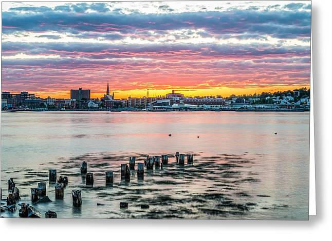 Portland Maine Sunset II Greeting Card by Tim Sullivan