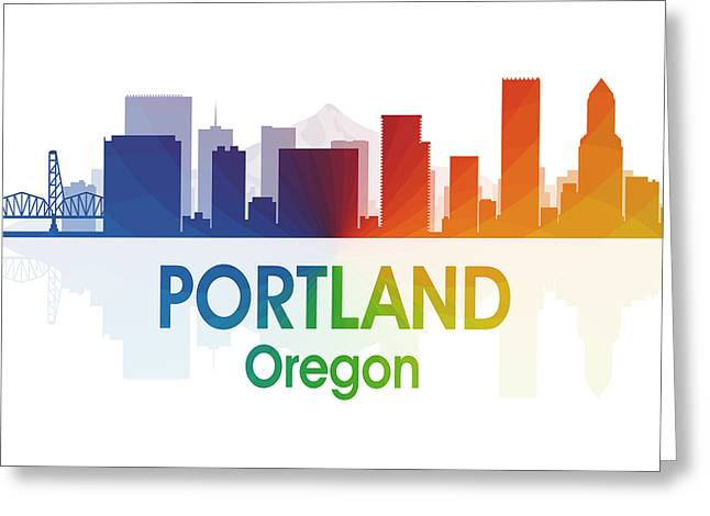 Portland Or Greeting Card by Angelina Vick