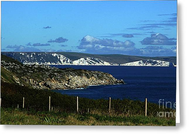 Portland To Weymouth  Greeting Card by Stephen Melia
