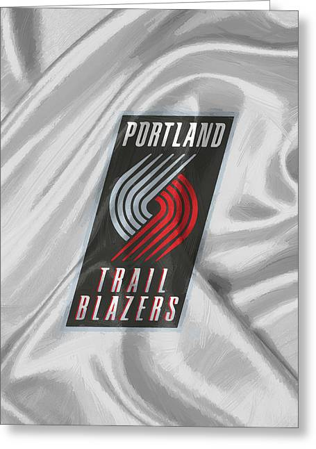 Portland Trail Blazers Greeting Card by Afterdarkness