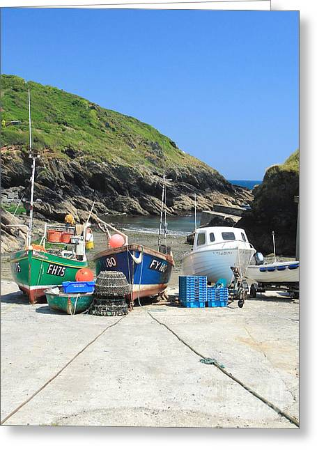 Portloe Greeting Card by Carl Whitfield