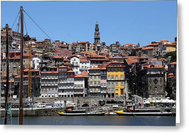 Porto 9 Greeting Card by Andrew Fare