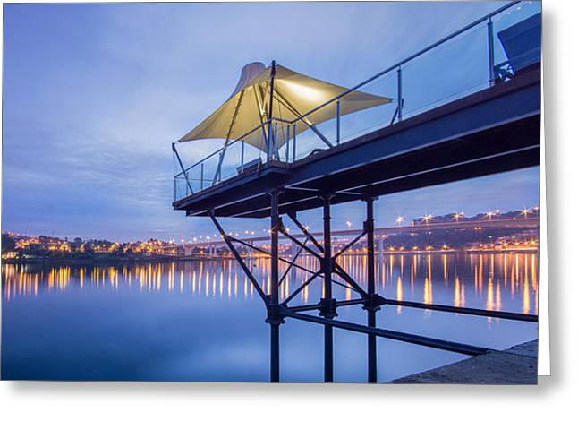 Porto Night Out Greeting Card by Bruno Rosa
