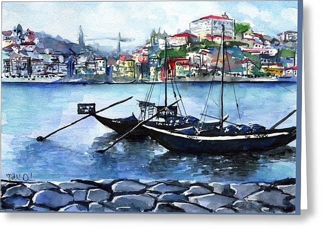Porto Rabelo Boats Greeting Card