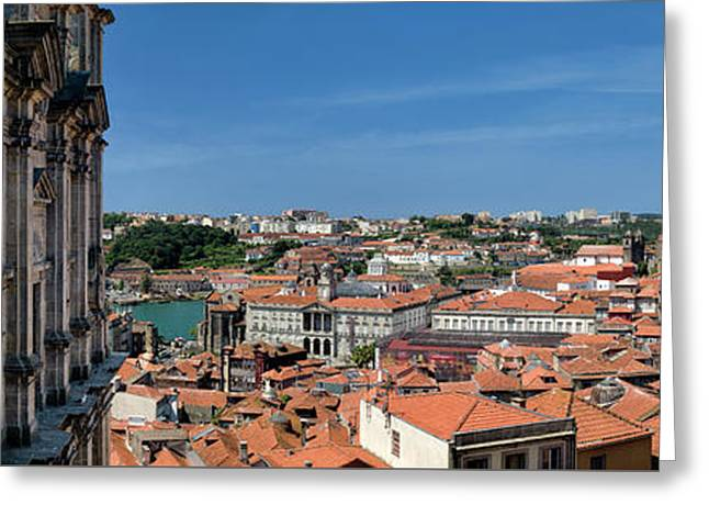 Porto Rooftops Greeting Card by Mikehoward Photography