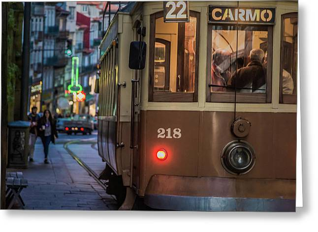 Porto Tram Greeting Card