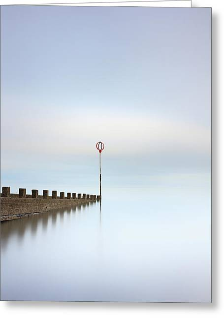 Greeting Card featuring the photograph Portobello Long Exposure by Grant Glendinning
