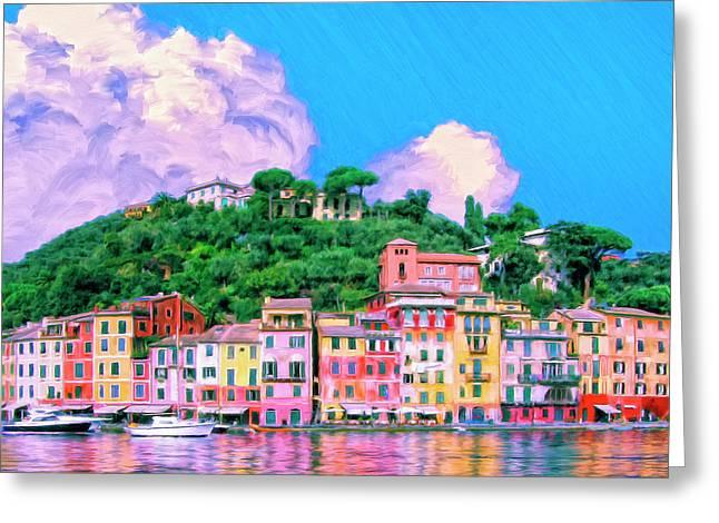 Portofino Greeting Card by Dominic Piperata