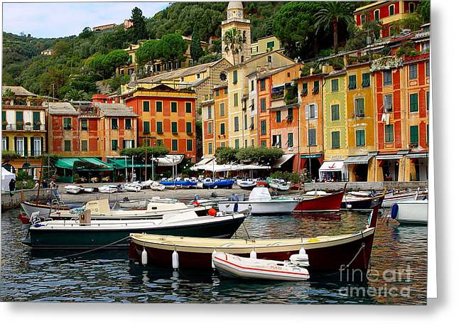Portofino Italy Greeting Card by Nancy Bradley