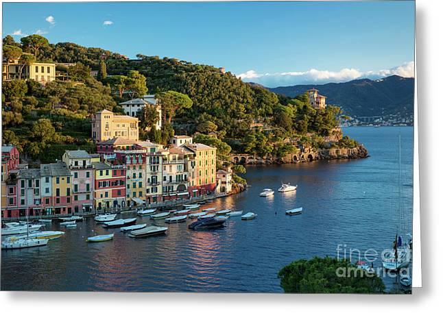 Portofino Morning Greeting Card by Brian Jannsen