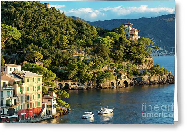 Portofino Morning IIi Greeting Card by Brian Jannsen