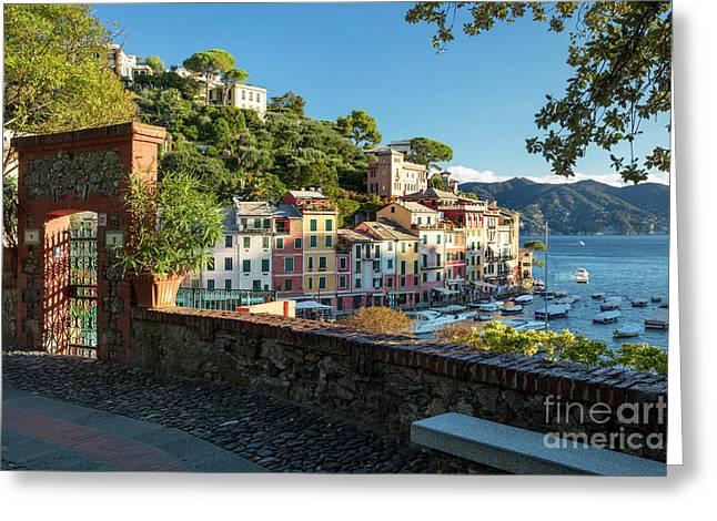 Portofino Overlook II Greeting Card by Brian Jannsen
