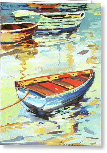 Portofino Passage Greeting Card by Rae Andrews