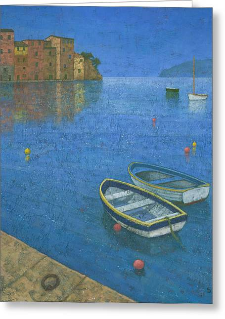 Portofino Greeting Card by Steve Mitchell