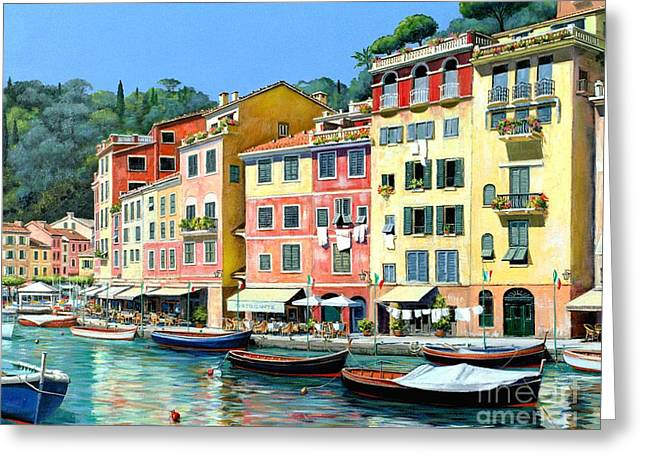 Portofino Sunshine 30 X 40 Greeting Card by Michael Swanson
