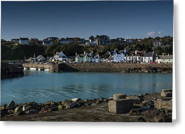 Portpatrick Harbour And Lighthouse Greeting Card
