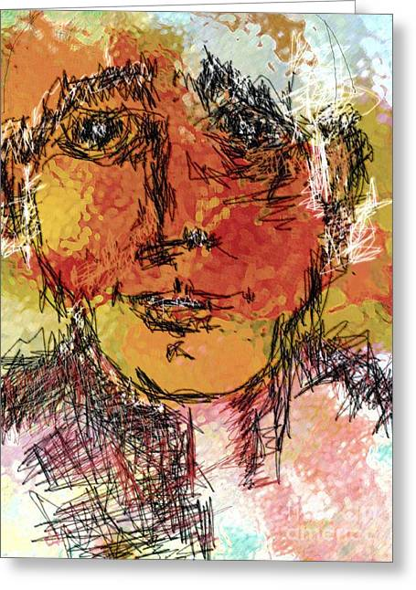 Portrait 11 Greeting Card by Mimo Krouzian