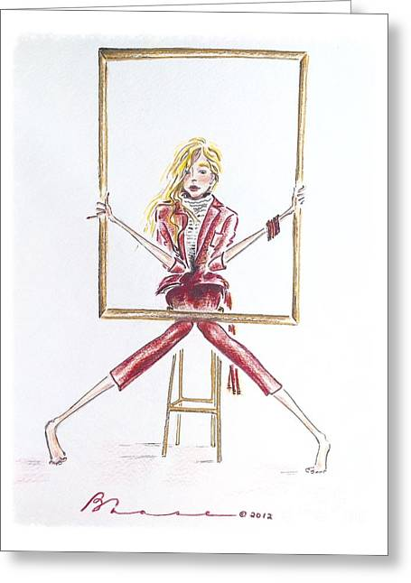 Portrait Greeting Card by Barbara Chase