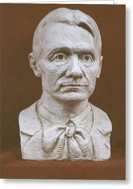 Portrait Bust Of Rudolf Steiner Greeting Card by David Dozier