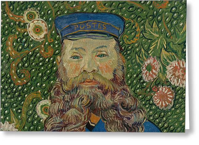 Portrait De Joseph Roulin Greeting Card by Vincent van Gogh