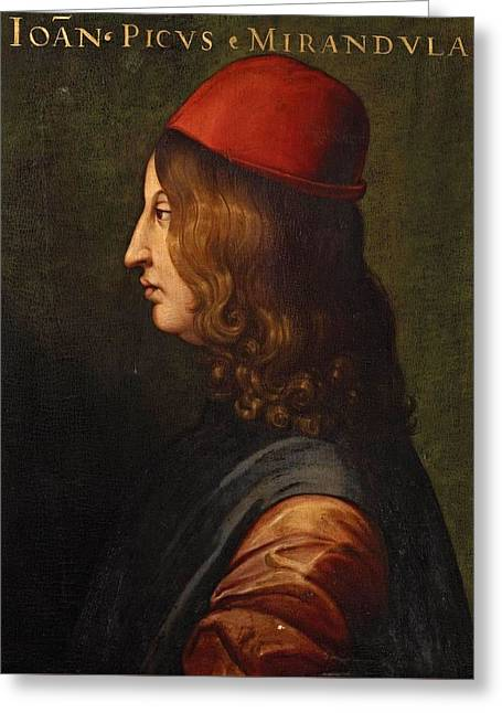 Portrait From The Uffizi  Greeting Card by MotionAge Designs