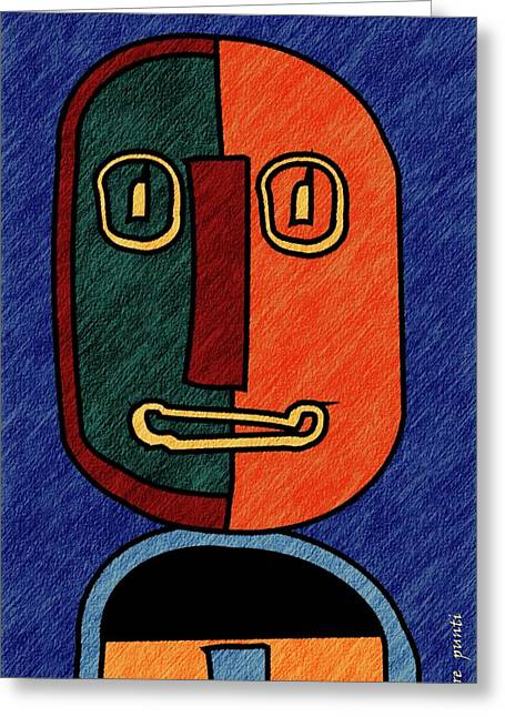 portrait in Almonte Slam with lines Greeting Card by Pere Punti
