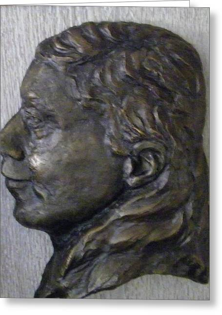 Portrait In Bronze Greeting Card by Willoughby Senior