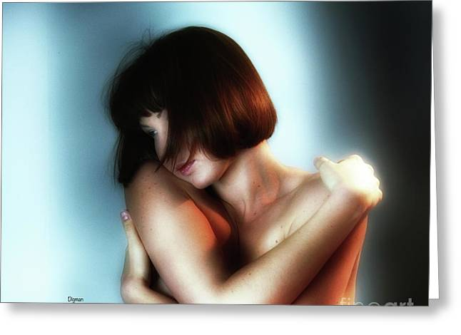 Portrait In Sensuous  Greeting Card by Steven Digman